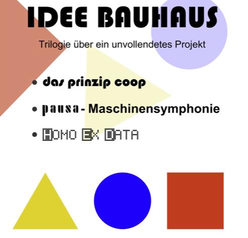 Die Idee Bauhaus - Alle Termine